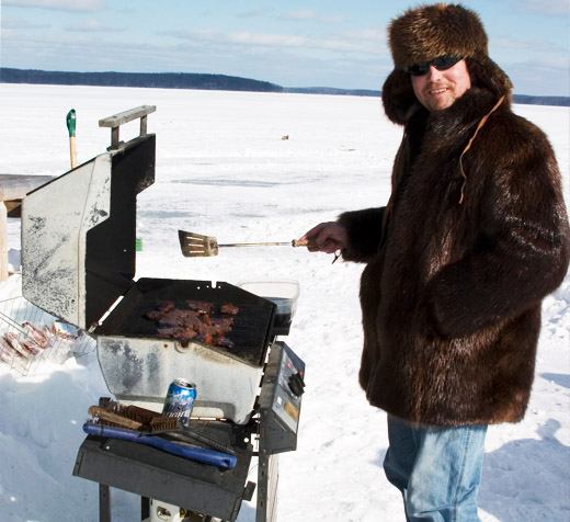 Barbecue during winter