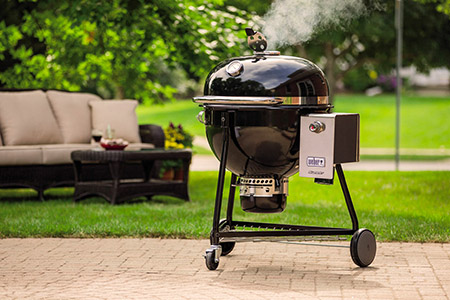 Combination Gas and Charcoal Grill: Weber Original Kettle Premium Charcoal Grill