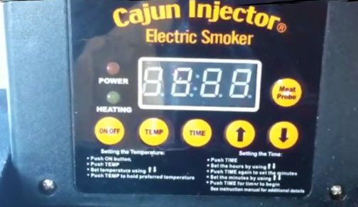 canjun injector electric smoker digital controls