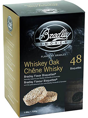 Bradley Smoker Whiskey Oak Bisquettes