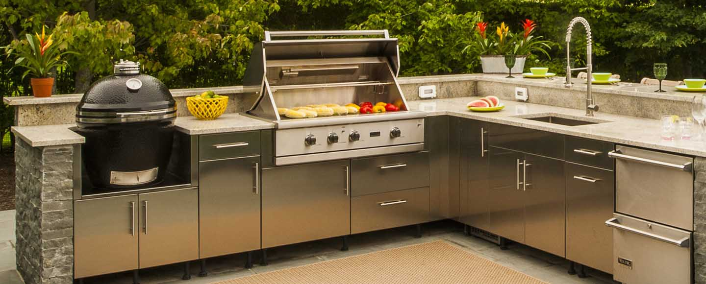 built in smoker for outdoor kitchen